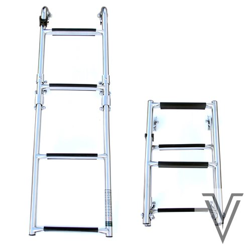 ESCALERA ESTAMPA POPA PLEGABLE - 2+2 PELDAÑOS