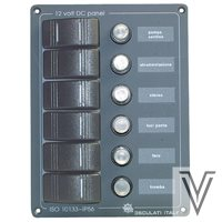PANEL 6 INTERRUPTORES  AUTOMATICOS-171 X135MM