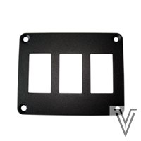 PANEL DE MONTAJE PARA 3 INTERRUPTORES 3131 Y CARLING 100X78MM