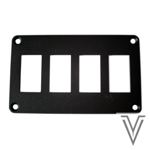 PANEL DE MONTAJE PARA 4 INTERRUPTORES 3131 Y CARLING 130X78MM