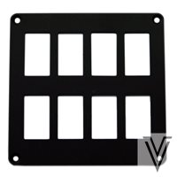 PANEL DE MONTAJE PARA 8 (2X4) INTERRUPTORES 3131 Y CARLING 130X128MM