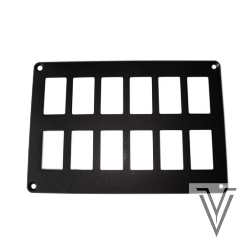 PANEL DE MONTAJE PARA 12 (2X6) INTERRUPTORES 3131 Y CARLING 188X128MM
