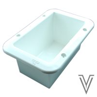 CONTENEDOR EMPOTRABLE PVC BLANCO 150X230MM