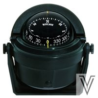 """B81-COMPAS RITCHIE VOYAGER 3"""" BRACKET LECTURA FRONTAL-NEGRO"""